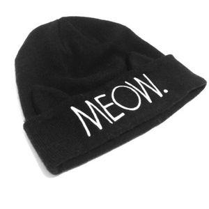 Meow Black Beanie